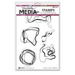 Ranger - Dina Wakley Media - Stamps - Organic Scribbles