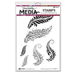 Ranger - Dina Wakley Media - Stamps - Sketched Layered Fronds
