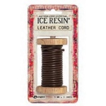 Ranger - ICE Resin - Leather Cording - Soft - Dark Brown - 3.0mm