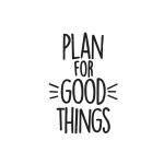 Simple Stories - Carpe Diem - Good Things Black Planner Decal