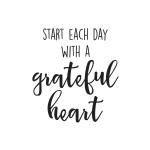 Simple Stories - Carpe Diem - Grateful Heart Black Planner Decal