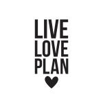 Simple Stories - Carpe Diem - Live Love Plan Black Planner Decal