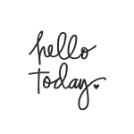 Simple Stories - Carpe Diem - Hello Today Black Planner Decal