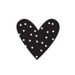 Simple Stories - Carpe Diem - Heart Black Planner Decal
