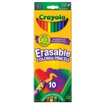 Crayola® 10-Color Erasable Colored Pencil Set: Multi, Pencil, (model 68-4410), price per pack