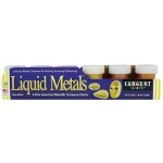 Sargent Art® Liquid Metals® Tempera Poster Paint Set; Color: Metallic, Multi; Format: Jar; Type: Tempera; (model 665411), price per set