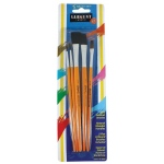 Sargent Art® Quality Brush Assortment 5-Pack: Natural, Flat, Round, Acrylic, Oil, Stain, Tempera, Watercolor, (model 566000), price per pack
