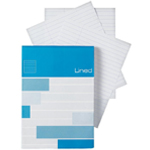 "Alvin® Saray Lined Pad 2.9 x 8.3: Pad, 80 Sheets, 2.9"" x 8.3"", Line, 20 lb, (model ALL08), price per 80 Sheets pad"