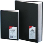 "Cachet® 5.5 x 8.5 Classic Black Sketch Book; Binding: Wire Bound; Color: White/Ivory; Format: Book; Quantity: 110 Sheets; Size: 5 1/2"" x 8 1/2""; Weight: 70 lb; (model CS1002), price per each"