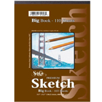 "Seth Cole 11"" x 14"" Premium Sketch Big Book: Wire Bound, White/Ivory, Pad, 55 Sheets, 11"" x 14"", 60 lb, (model SC92D), price per 55 Sheets pad"