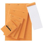 "Rhodia 4.5 x 6.75 Graphic Sketch/Memo Pad; Color: White/Ivory; Format: Pad; Grid Size/Pattern: 5"" x 5""; Quantity: 80 Sheets; Size: 4 1/2"" x 6 3/4""; Weight: 20 lb; (model RA14), price per 80 Sheets pad"