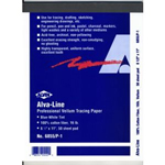 "Alvin® Alva-Line Tracing Paper with Title Block and Border 10-Sheet Pack 24 x 36; Format: Sheet; Quantity: 10 Sheets; Size: 24"" x 36""; Type: Tracing; (model 6855/B-XO-8), price per 10 Sheets"