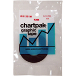 "Chartpak Graphic Tape: Black Matte, 1/8"" x 324"""