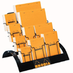 Rhodia Sketch/Memo Pad Display; Format: Pad; Grid Size/Pattern: Various; Gridded: Yes; Lead Color: Orange; Quantity: 80 Sheets; Size: Multi; (model RA26D), price per each