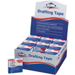 "Alvin® Drafting Tape Display; Color: White/Ivory; Type: Drafting; Width: 3/4""; (model 2300D), price per each"