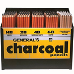 General's® Charcoal Pencil Display; Format: Pencil; (model 5577D), price per each