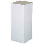 "White Laminate Pedestal: 15"" x 15"" Base, 42"" Height"