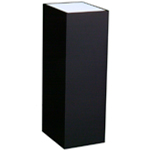 "Lighted Black Laminate Pedestal: 11 1/2"" x 11 1/2"" Base, 30"" Height"