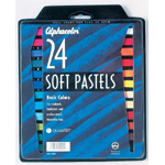 Alphacolor® Soft Pastels Basic 24-Color Set: Multi, Stick, Soft, (model QT102004), price per set