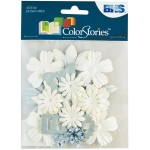 """Blue Hills Studio™ ColorStories™ Handmade Paper Potpourri White; Color: White/Ivory; Material: Paper; Size: 2 1/4""""; Type: Dimensional; (model BHS10710), price per each"""