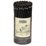 Derwent Sketching Pencil 72-Piece Tub; Color: Black/Gray; Type: Drawing; (model 34345), price per set
