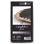 Finetec 12-Piece Graphite Pencil Set; Color: Black/Gray; Type: Drawing; (model P004), price per set
