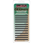 General's® Compressed Graphite Sticks; Color: Black/Gray; Degree: 2B, 4B, 6B; Type: Drawing Lead; (model 97012ABP), price per set