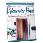 "Royal & Langnickel® Essentials™ Watercolor Pencil Artist Pack; Binding: Wire Bound; Color: Multi; Quantity: 10 Sheets; Size: 9"" x 12""; Type: Watercolor; (model RD503), price per 10 Sheets"