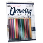 "Royal & Langnickel® Essentials™ Drawing Artist Pack; Binding: Wire Bound; Color: Multi; Quantity: 10 Sheets; Size: 9"" x 12""; (model RD504), price per 10 Sheets"