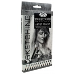 Royal & Langnickel® Essentials™ Essentials™ Sketching Artist Pencil Set: Pencil, Black/Gray, (model SPEN-12), price per set