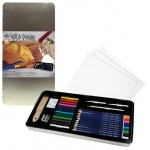 Royal & Langnickel® StillLife Drawing Large Tin Art Set: Pencil, Stick, Multi, (model RSET-ART2407), price per set