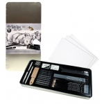 Royal & Langnickel® Sketching Large Tin Art Set; Format: Pencil, Stick; Lead Color: Black/Gray; (model RSET-ART2408), price per set