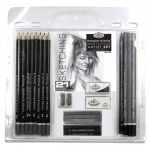 Royal & Langnickel® Essentials™ Sketching Set; Color: Black/Gray; (model RART-200), price per set