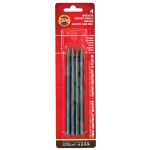 Koh-I-Noor® Progresso Woodless Graphite Pencils: Black/Gray, 2B, 4B, 6B, HB, Drawing, (model FA89114BC), price per set
