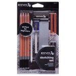 Reeves™ 13-Piece Artist Sketching Set; Color: Black/Gray; Type: Drawing; (model 8210112), price per set