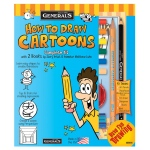 General's® How To Draw Cartoons! Kit: Book, (model G69101), price per each