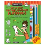 General's® How To Draw Cartoon Flip Books! Kit; Format: Book; (model G69102), price per each