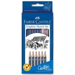 Faber-Castell® Graphite Sketch Set; Color: Black/Gray; Degree: 2B, 2H, 4B, 6B, B, HB; Type: Drawing; (model FC114000), price per set