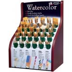 Princeton™ Good Synthetic Sable Watercolor and Acrylic Brush Display: Good, Multi, Short Handle, Synthetic Sable, Multi, Multi, Acrylic, Multi, Watercolor, (model 4350D), price per each
