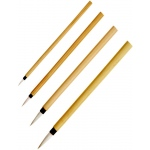 Princeton™ Bamboo Brush Round 2/0; Material: Natural; Shape: Round; Type: Calligraphy, Watercolor; (model 2150B-2/0), price per each