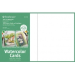 "Strathmore® 5 x 6.875 Watercolor Cards and Postcards 100-Pack; Color: White/Ivory; Envelope Included: Yes; Quantity: 100 Cards; Size: 5"" x 6 7/8""; Texture: Cold Press; Type: Watercolor; Weight: 140 lb, 80 lb; (model ST105-650), price per 100 Cards"