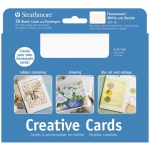 "Strathmore® 5 x 6.875 Fluorescent White/Deckle Creative Cards 10-Pack; Color: White/Ivory; Envelope Included: Yes; Format: Card; Quantity: 10 Cards; Size: 5"" x 6 7/8""; Weight: 80 lb; (model ST105-160), price per 10 Cards"