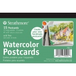 "Strathmore® 5 x 6.875 Watercolor Cards and Postcards 15-Pack; Color: White/Ivory; Format: Postcard; Quantity: 15 Cards; Size: 4"" x 6""; Texture: Cold Press; Weight: 140 lb; (model ST704-4), price per 15 Cards pad"