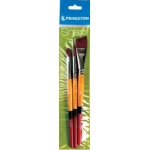 Princeton™ Snap! Golden Taklon Brush Set Filbert 8 Round 10 Angle Shader 3/4; Length: Short Handle; Shape: Angular Shader, Filbert, Round; Type: Acrylic, Watercolor; (model 9650SET-1), price per set