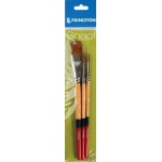 Princeton™ Snap! Golden Taklon Brush Set Round 4 and 6 Stroke 3/4; Shape: Filbert, Round, Stroke; Type: Acrylic, Watercolor; (model 9650SET-2), price per set