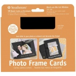 "Strathmore® Photo Frame Cards 10-Pack Black; Color: Black/Gray; Envelope Included: Yes; Format: Card; Quantity: 10 Cards; Size: 5"" x 6 7/8""; Weight: 80 lb; (model ST105-186), price per 10 Cards"