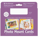 "Strathmore® Photo Mount Cards 10-Pack White; Color: White/Ivory; Envelope Included: Yes; Format: Card; Quantity: 10 Cards; Size: 5"" x 6 7/8""; Weight: 80 lb; (model ST105-180), price per 10 Cards"