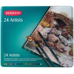 Derwent Artist Pencil 24-Color Tin Set; Color: Multi; (model 32093), price per set