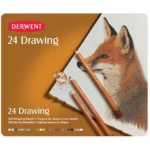 Derwent Drawing Pencil 24-Color Tin Set; Color: Multi; Type: Drawing; (model 0700672), price per set