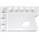 "Heritage Arts™ Rectangular Plastic Palette 9 3/4 x 6 3/4; Material: Plastic; Quantity: 9 Wells; Shape: Rectangle; Size: 6 3/4"" x 9 3/4""; (model CW165), price per each"